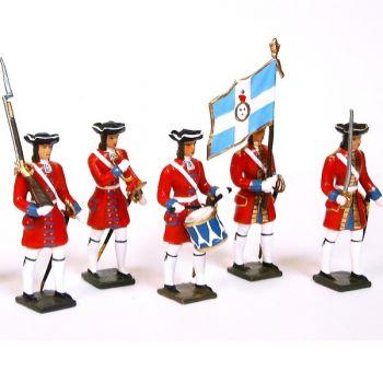 Grenadiers de la garde suisse de louis XIV, ensemble de 5 figurines