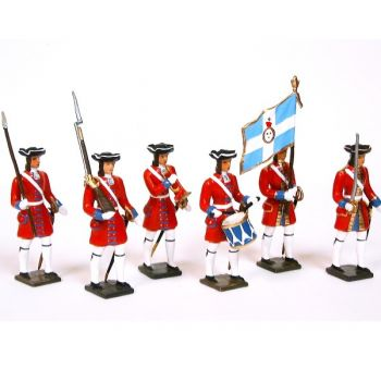 Grenadiers de la garde suisse de louis XIV, ensemble de 6 figurines