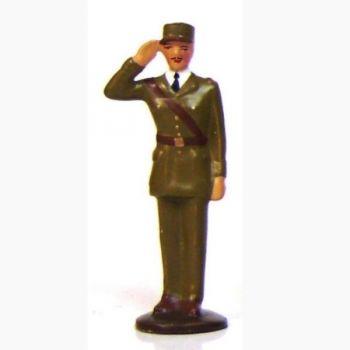 Général de Gaulle (1890-1970) saluant (haut. 68 mm)