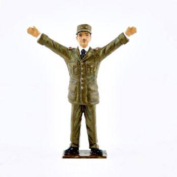 Général de Gaulle bras tendus