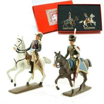 coffret de 2 figurines : général de Beauharnais et son aide de camp