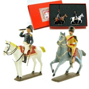 coffret de 2 figurines : maréchal Bernadotte et son aide de camp