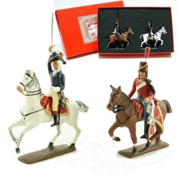 coffret de 2 figurines : maréchal Kellermann et son aide de camp