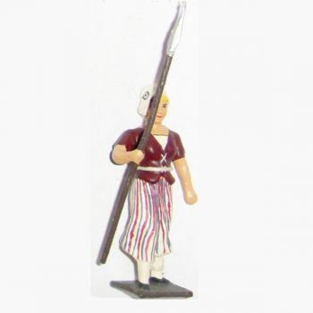 femme révolutionnaire avec lance à la main