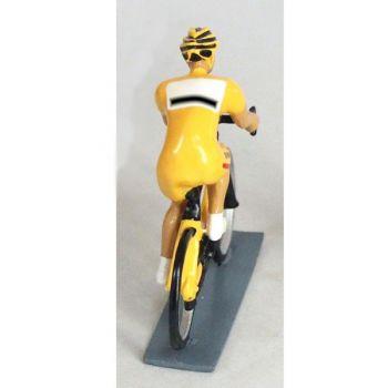 cycliste contemporain, maillot jaune