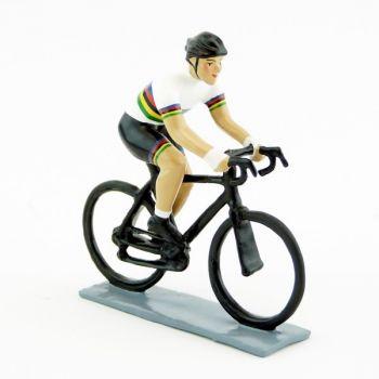 cycliste contemporain, maillot Champion du Monde