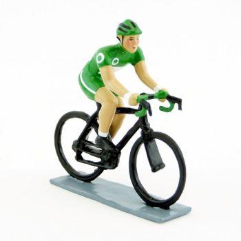 cycliste contemporain, maillot vert
