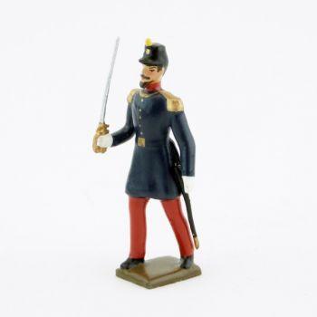 officier de l'infanterie de ligne, basquine garance (Napoléon III)