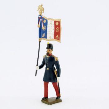 drapeau de l'infanterie de ligne, basquine garance (Napoléon III)