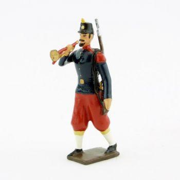 clairon de l'infanterie de ligne, basquine garance (Napoléon III)