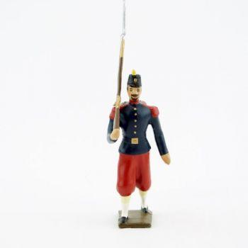 fantassin de l'infanterie de ligne, basquine garance (Napoléon III)