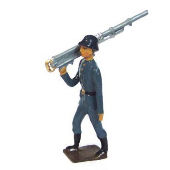 artilleur portant mitrailleuse