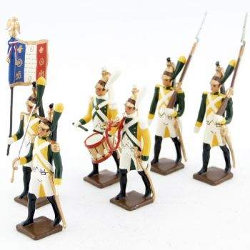 "ensemble de 6 figurines ""Dragons jaunes"""