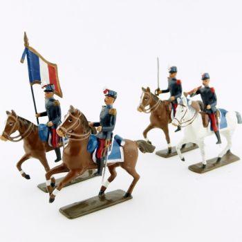 Saint-Cyriens à cheval, ensemble de 4 cavaliers