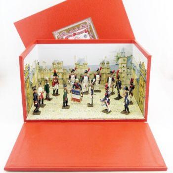 "diorama ""les Adieux de Fontainebleau"" (15 Figurines)"