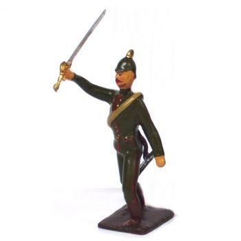 officier de l'infanterie prussienne a l'assaut