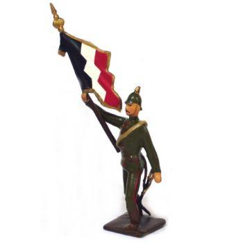 drapeau de l'infanterie prussienne a l'assaut