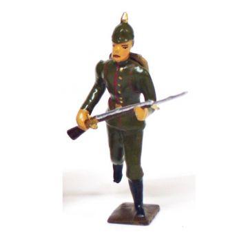 fantassin de l'infanterie prussienne a l'assaut