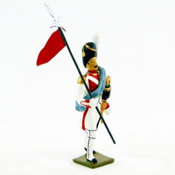 2e porte-aigle du 3e rgt de grenadiers de la garde (ex-hollandais) (1812)
