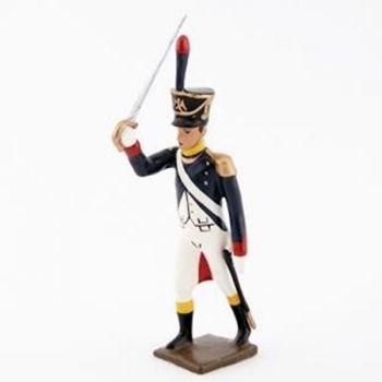 officier de l'infanterie de ligne (1812) à l'assaut