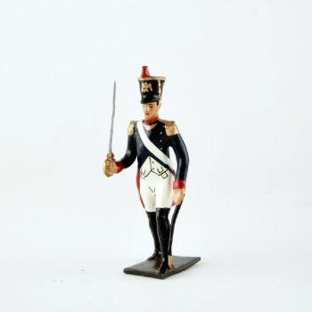 officier de l'infanterie de ligne, pied gauche en avant