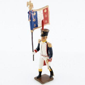 drapeau des voltigeurs du 17ème régiment de ligne (1809)