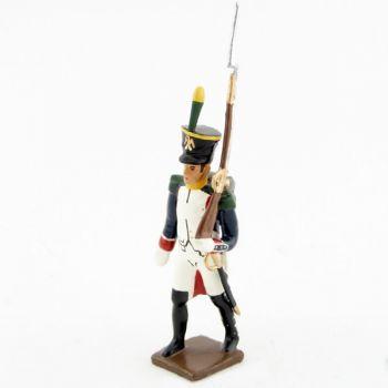 fantassin des voltigeurs du 17ème régiment de ligne (1809)