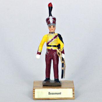général Beaumont sur socle bois