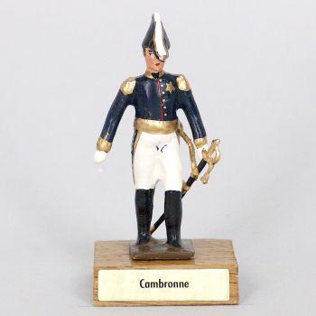 général Cambronne sur socle bois