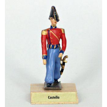 général Castella sur socle bois