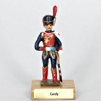 général Curely sur socle bois