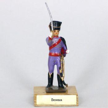 général Desvaux sur socle bois