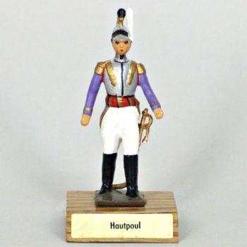 général Hautpoul sur socle bois