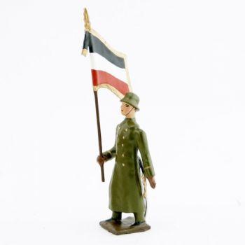drapeau de l'infanterie prussienne avec casque acier (stahlhelm)