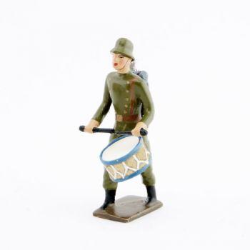 tambour de l'infanterie prussienne avec casque acier (stahlhelm)