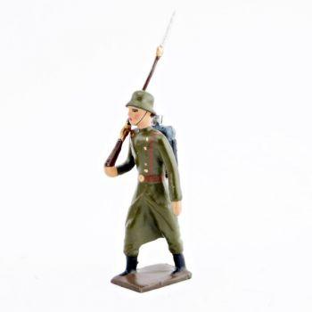 fantassin de l'infanterie prussienne avec casque acier (stahlhelm)
