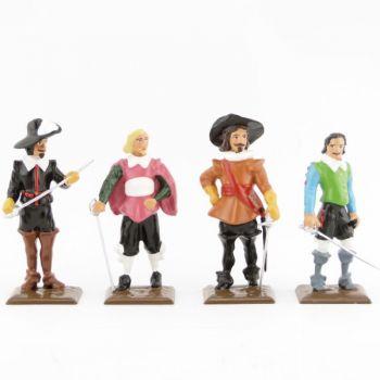 ensemble de 4 personnages (collection les Trois Mousquetaires)