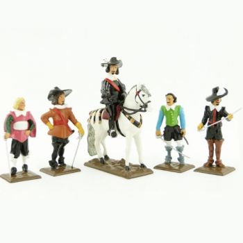 ensemble de 5 personnages (collection les Trois Mousquetaires)