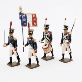 Tirailleurs-grenadiers (1809-1813), ensemble de 4 figurines