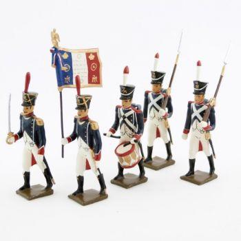Tirailleurs-grenadiers (1809-1813), ensemble de 5 figurines