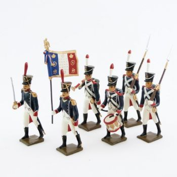 Tirailleurs-grenadiers (1809-1813), ensemble de 6 figurines