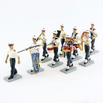 le Bagad de Lann-Bihoué (ensemble de 9 figurines)