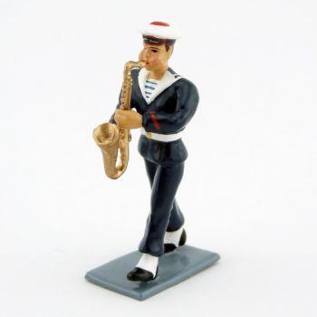 saxophone du Bagad de Lann-Bihoué, tenue d'hiver