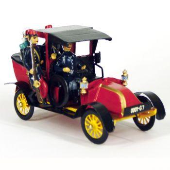 Taxi de la Marne rouge (Musée de l'Armée), 4 personnages, en coffret