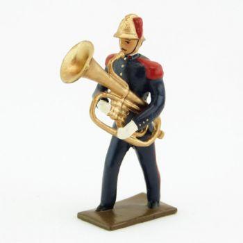 Grand tuba de la Musique des Pompiers (époque 1900)