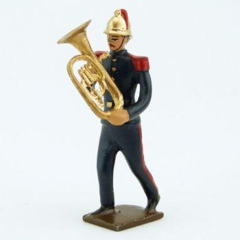 Petit tuba de la Musique des Pompiers (époque 1900)
