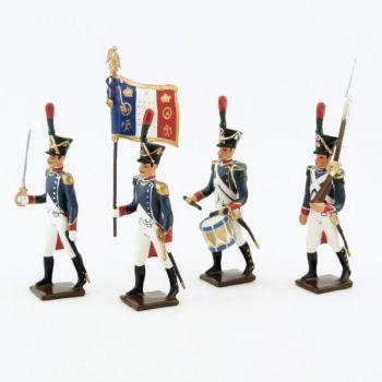 Voltigeurs de la Jeune Garde, ensemble de 4 figurines