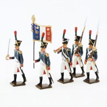 Voltigeurs de la Jeune Garde, ensemble de 5 figurines