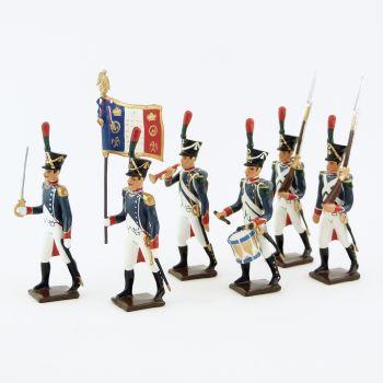 Voltigeurs de la Jeune Garde, ensemble de 6 figurines