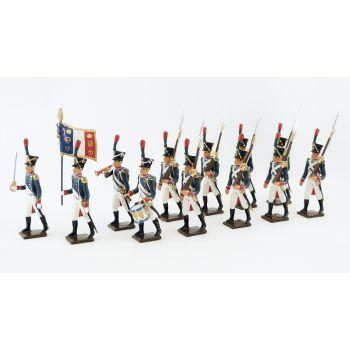 Voltigeurs de la Jeune Garde, ensemble de 12 figurines
